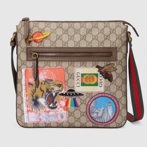 Gucci Beige/Ebony Soft GG Supreme Gucci Courrier Messenger Bag
