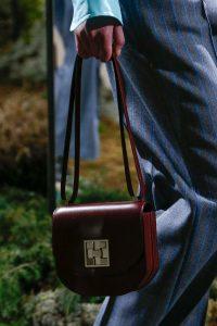 Hermes Burgundy Saddle Bag - Pre-Fall 2018