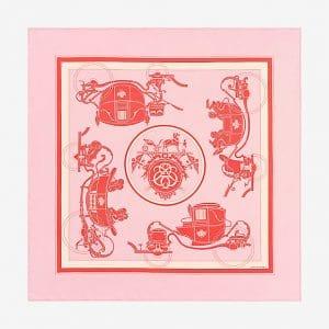 Hermes Ex-Libris Silk Twill Scarf 90