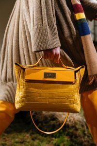 Hermes Yellow Crocodile Top Handle Bag - Pre-Fall 2018