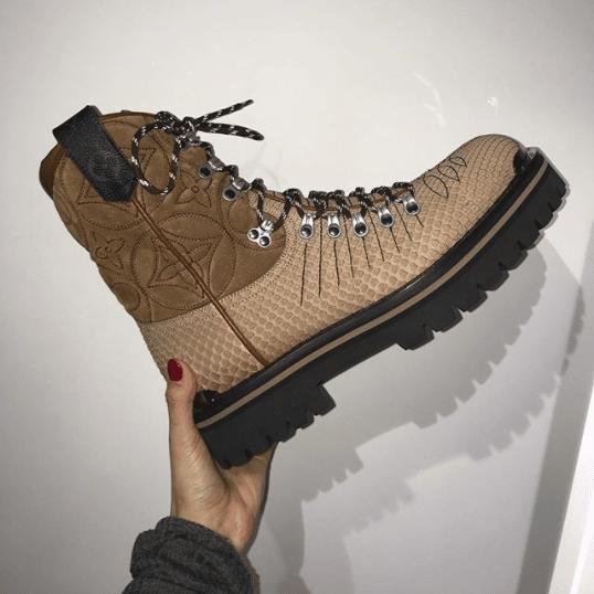 aa2718ba7458 Louis Vuitton Beige Boots - Fall 2018. IG  bazaarmenthailand