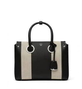 MCM Black Canvas Neo Milla Tote Bag
