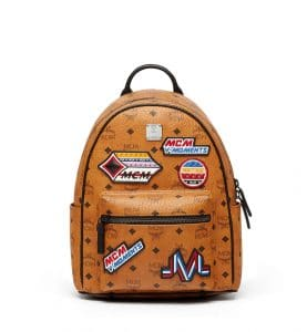 MCM Cognac Victory Patch Visetos Stark Backpack Bag