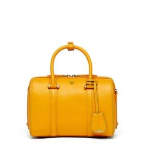 MCM Exoctic Yellow Smooth Leather Essential Boston Bag