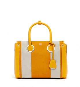 MCM Exotic Yellow Canvas Neo Milla Tote Bag