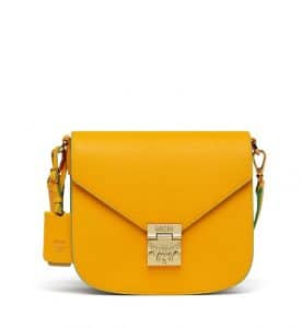 MCM Exotic Yellow Tipped Leather Patricia Shoulder Bag