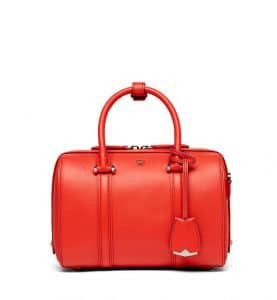 MCM Marigold Orange Smooth Leather Essential Boston Bag
