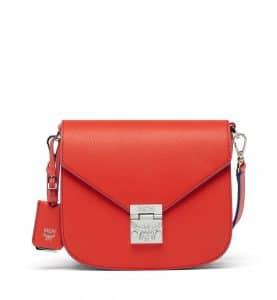 MCM Marigold Orange Tipped Leather Patricia Shoulder Bag
