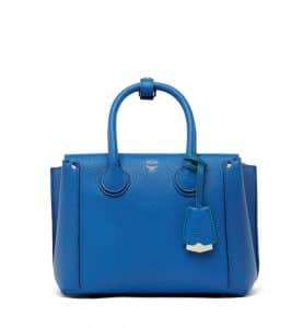 MCM Tennis Blue Park Avenue Leather Small Neo Milla Tote Bag