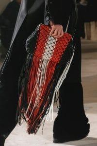 Proenza Schouler Black/Red/White Macramé Clutch Bag - Fall 2018