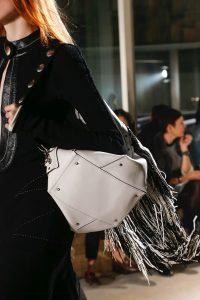 Proenza Schouler White Fringed Backpack Bag - Fall 2018