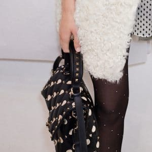 Valentino Black Polkadot Rockstud Top Handle Bag - Pre-Fall 2018
