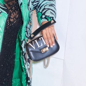 Valentino Black VLTN Chain Crossbody Bag - Pre-Fall 2018