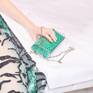 Valentino Green Crocodile Minaudiere Bag - Pre-Fall 2018