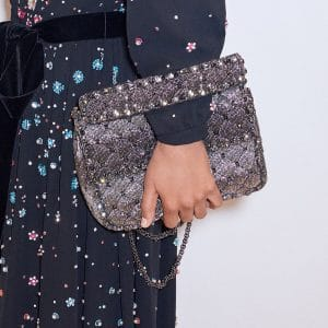 Valentino Silver Rockstud Spike Flap Bag - Pre-Fall 2018
