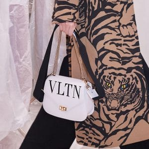 Valentino White VLTN Chain Flap Bag - Pre-Fall 2018