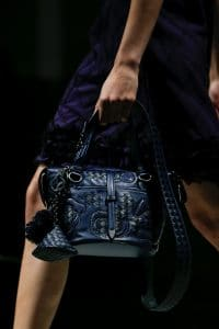 Bottega Veneta Blue Intrecciato Small Tote Bag - Fall 2018