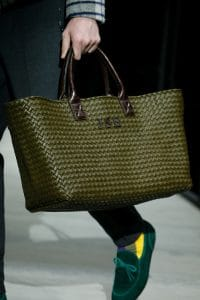Bottega Veneta Dark Green Intrecciato Tote Bag - Fall 2018