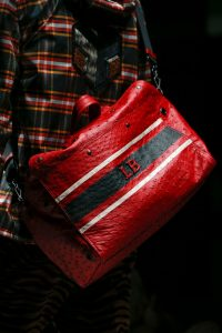 Bottega Veneta Red Ostrich Duffle Bag - Fall 2018