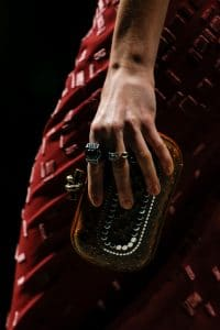 Bottega Veneta Red/Black Embellished Knot Bag - Fall 2018