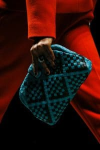 Bottega Veneta Turquoise:Black The Lauren 1980 Clutch Bag 2 - Fall 2018