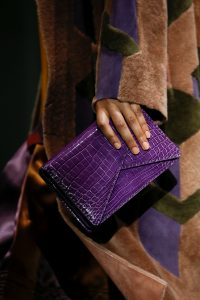 Bottega Veneta Violet Crocodile BV Clutch Bag - Fall 2018