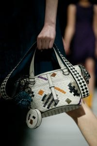 Bottega Veneta White Intrecciato Abstract Small Tote Bag - Fall 2018