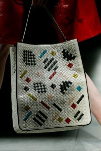 Bottega Veneta White Intrecciato Abstract Tambura Bag - Fall 2018