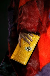 Bottega Veneta Yellow Crocodile Knot Clutch Bag - Fall 2018