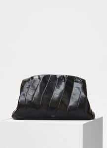 Celine Black Crocodile Purse Clutch Bag