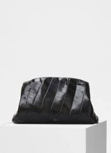 Celine Black Crocodile Purse Clutch Bag