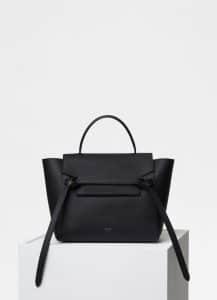 Celine Black Grained Calfskin Micro Belt Bag