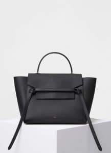 Celine Black Grained Calfskin Mini Belt Bag