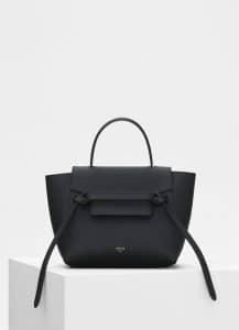 Celine Black Grained Calfskin Nano Belt Bag