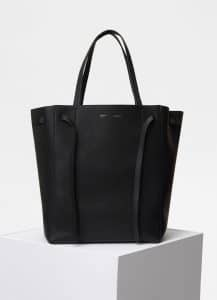 Celine Black Medium Cabas Phantom Bag