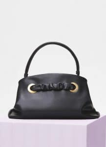 Celine Black Shiny Calfskin Small Purse with Eyelets Bag