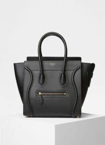Celine Black Smooth Calfskin Micro Luggage Bag