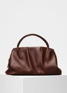 Celine Brown Smooth Calfskin Medium Purse Bag