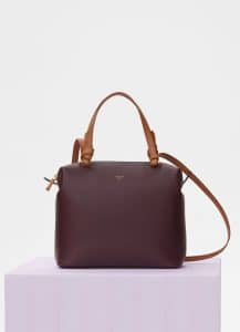 Celine Burgundy Small Soft Cube Bag