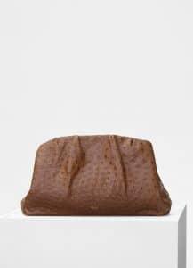 Celine Camel Ostrich Purse Clutch Bag