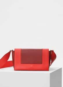 Celine Coral/Dark Claycourt Medium Frame Bag