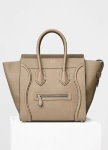 Celine Dune Drummed Calfskin Mini Luggage Bag