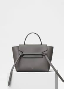 Celine Grey Grained Calfskin Micro Belt Bag