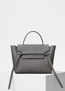 Celine Grey Grained Calfskin Mini Belt Bag
