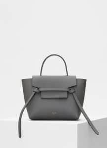 Celine Grey Grained Calfskin Nano Belt Bag