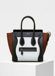 Celine Iceberg Multicolour Baby Grained Calfskin Micro Luggage Bag