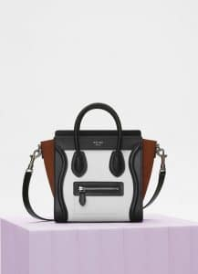 Celine Iceberg Multicolour Baby Grained Calfskin Nano Luggage Bag