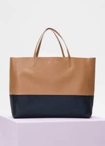 Celine Light Camel/Dark Sea Horizontal Cabas Bag