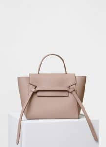 Celine Light Taupe Grained Calfskin Micro Belt Bag