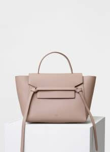 Celine Light Taupe Grained Calfskin Mini Belt Bag